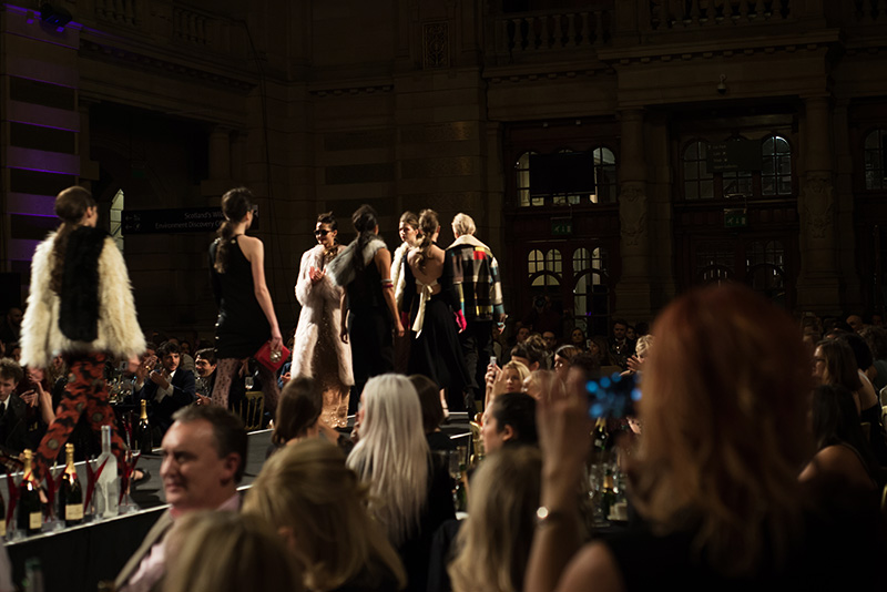 FAIIINT Scottish Style Awards 2015 at Kelvingrove art gallery and museum in Glasgow. Catwalk finale.