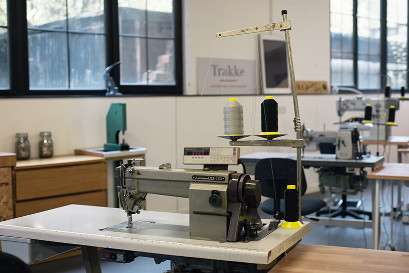FAIIINT Trakke Glasgow studio, sewing machines.