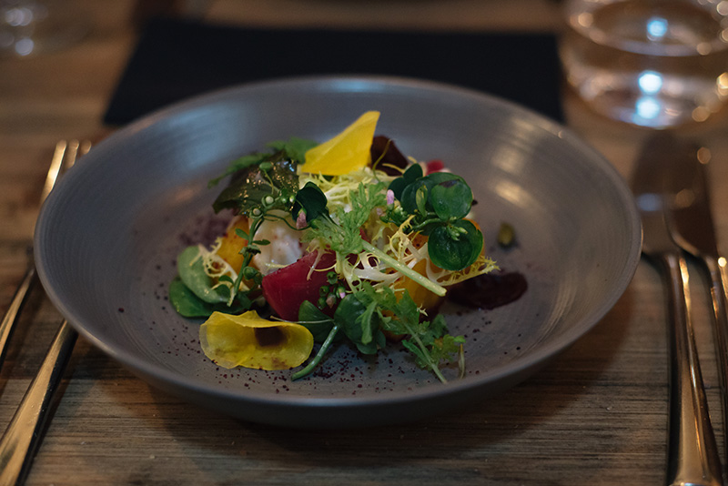 FAIIINT The Gannet Glasgow Champagne Sundays. Beetroot salad.