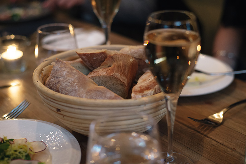 FAIIINT The Gannet Glasgow Champagne Sundays. Bread basket.