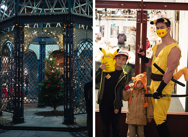 Hyper Japan Christmas Market 2015 Tobacco Dock Pokemon Pikachu cosplay costumes family