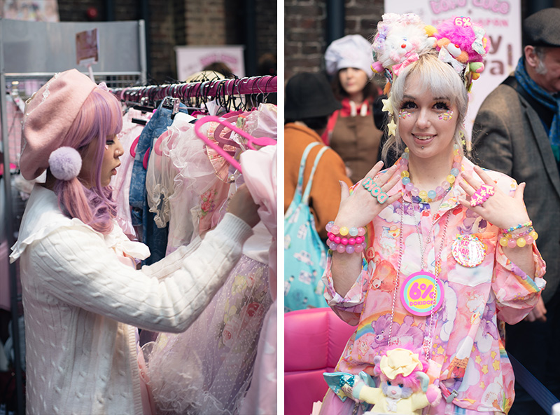 Hyper Japan Christmas Market 2015 at Tobacco Dock London. Tofu cute lolita and decora fashion.