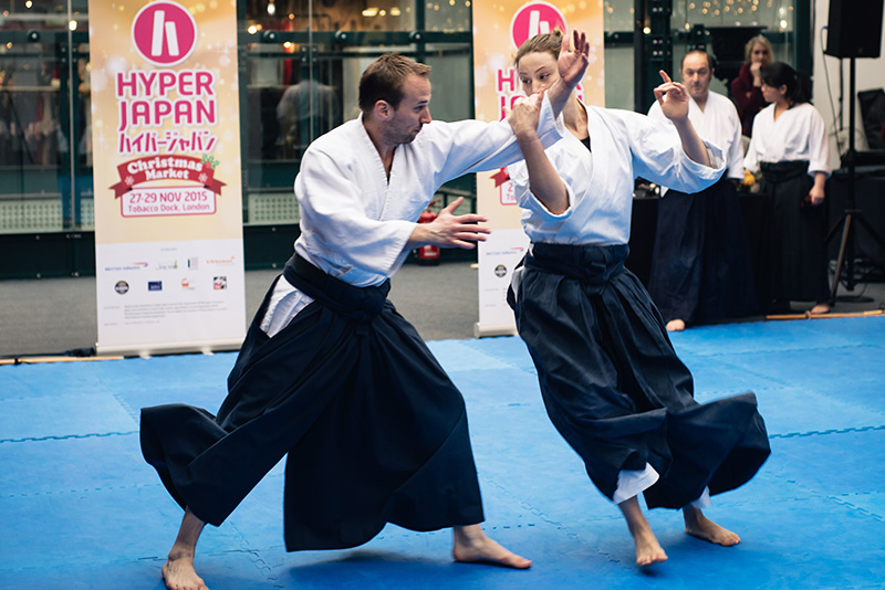 Hyper Japan Christmas Market 2015 at Tobacco Dock London. Aikido.