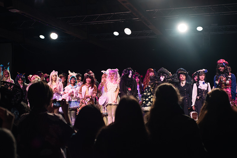 Hyper Japan Christmas Market 2015 at Tobacco Dock London. Fashion show.