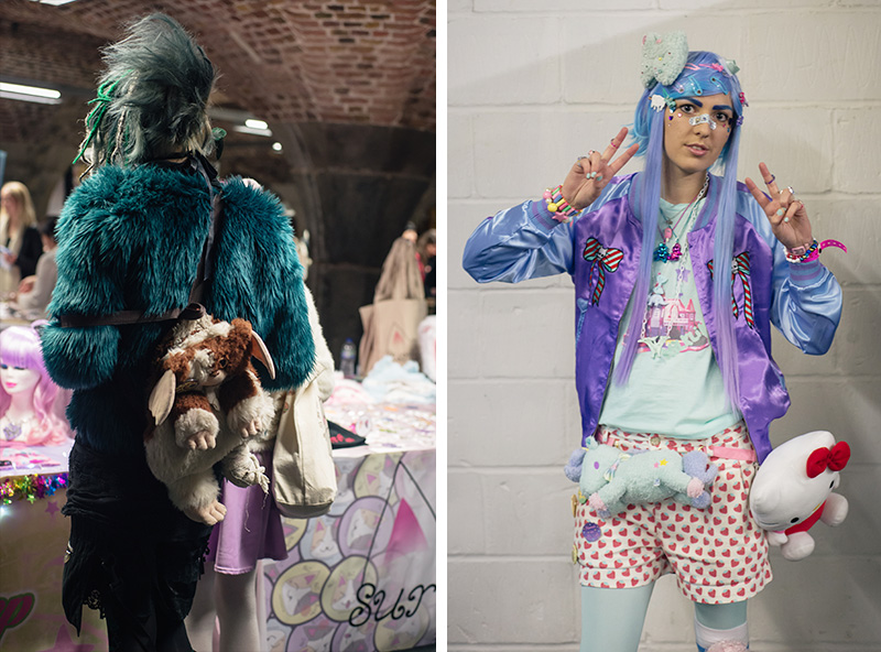 Hyper Japan Christmas Market 2015 at Tobacco Dock London. Street style Japanese inspired fashion.