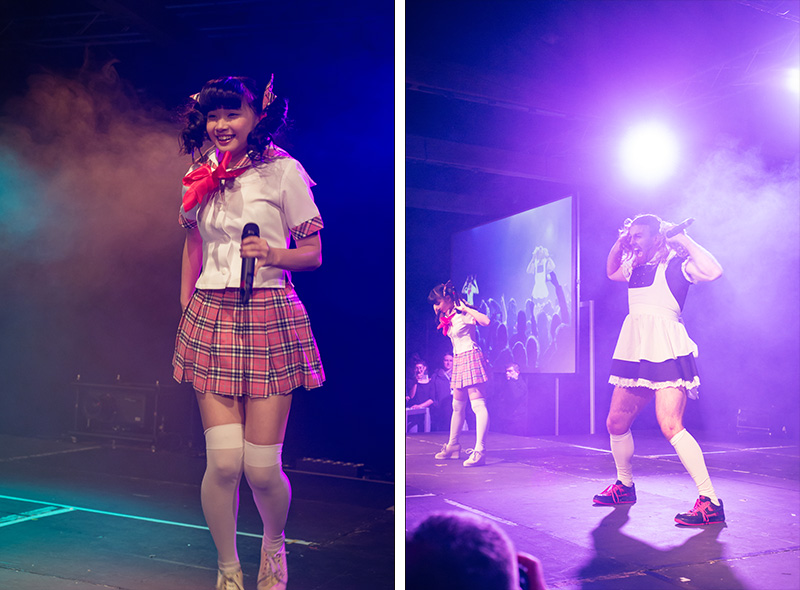 Hyper Japan Christmas Market 2015 at Tobacco Dock London. LadyBaby performing live.