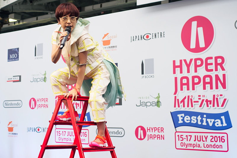 MC Itsuka J-pop rap Charisma.com performing live at Hyper Japan festival 2016 Kensington Olympia.
