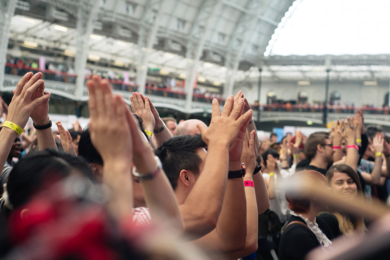 MC Itsuka and DJ Gonchi J-pop rap Charisma.com performing live at Hyper Japan festival 2016 Kensington Olympia.