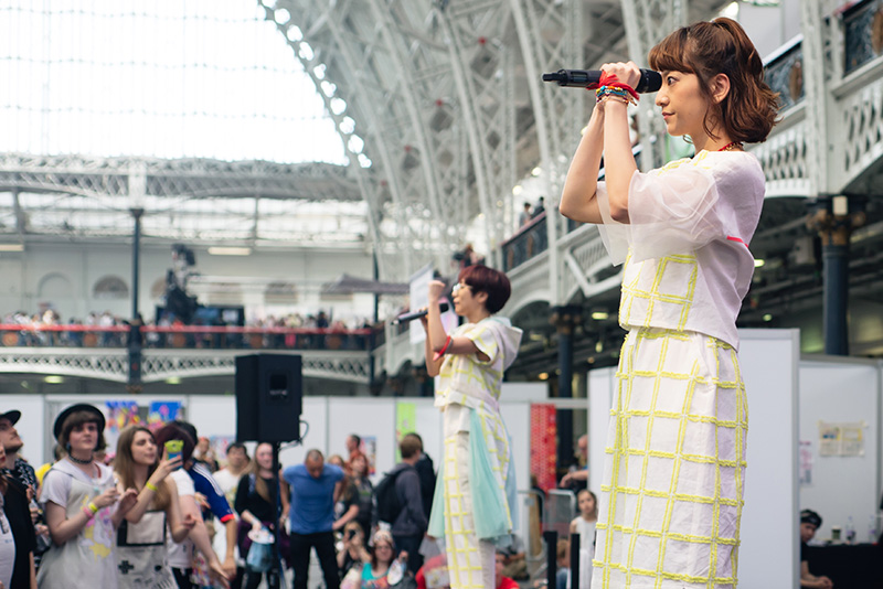 MC Itsuka and DJ Gonchi J-pop rap Charisma.com performing live at Hyper Japan festival 2016 Kensington Olympia.
