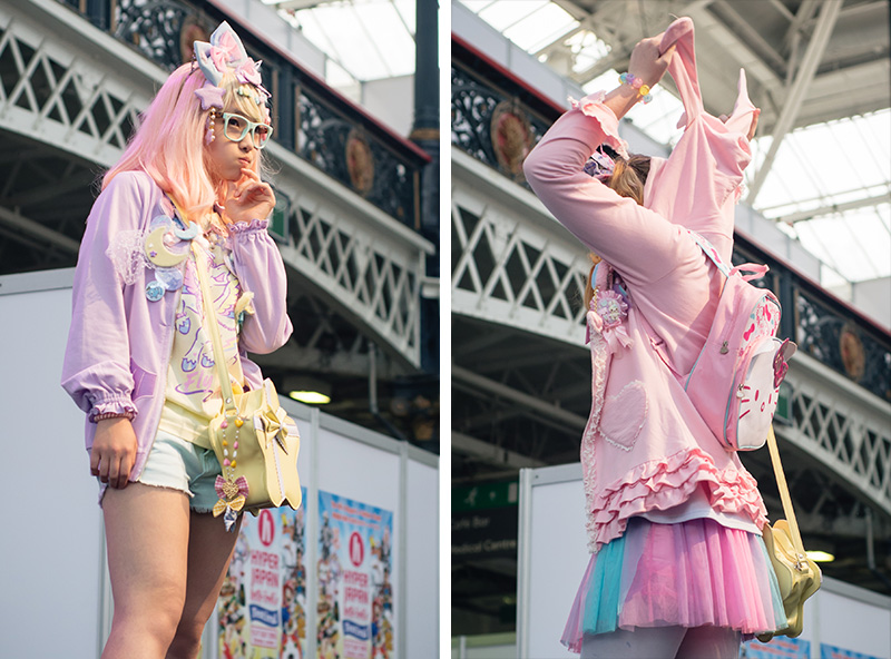 Hyper Japan festival 2016 Kensington Olympia. Kawaii cute pastel decora outfits at the fashion show.