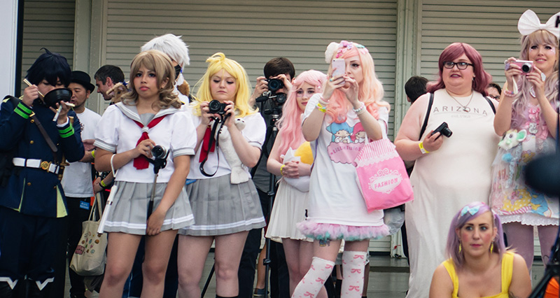 Hyper Japan festival 2016 Kensington Olympia. Kawaii cute and schoolgirl Kogal outfits.