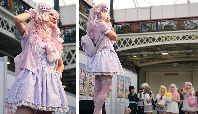 Hyper Japan festival 2016 Kensington Olympia. Kawaii cute decora outfit at the fashion show.