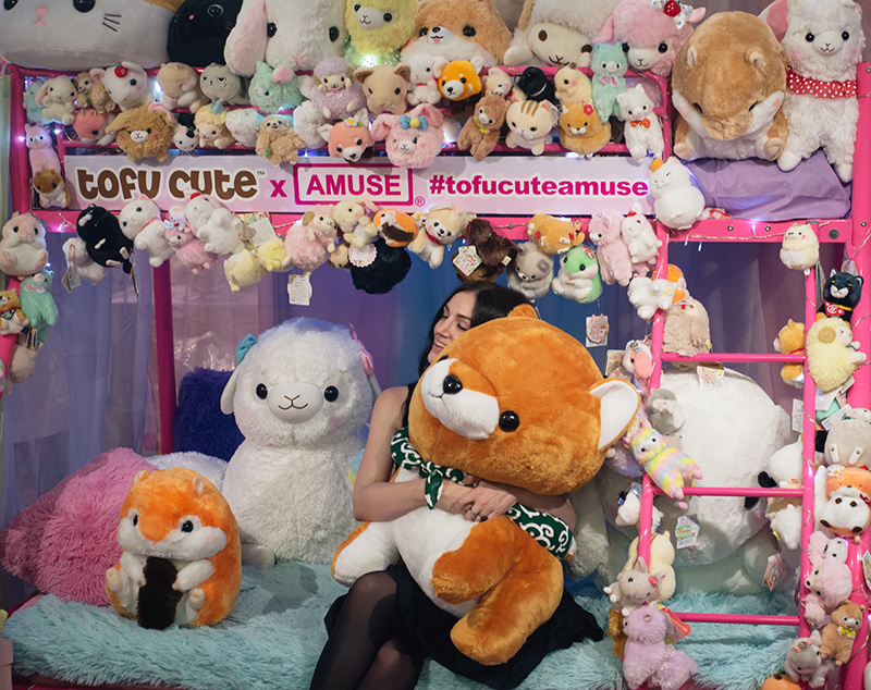 Hyper Japan festival 2016 Kensington Olympia. Tofu Cute Amuse plushes giant shiba.