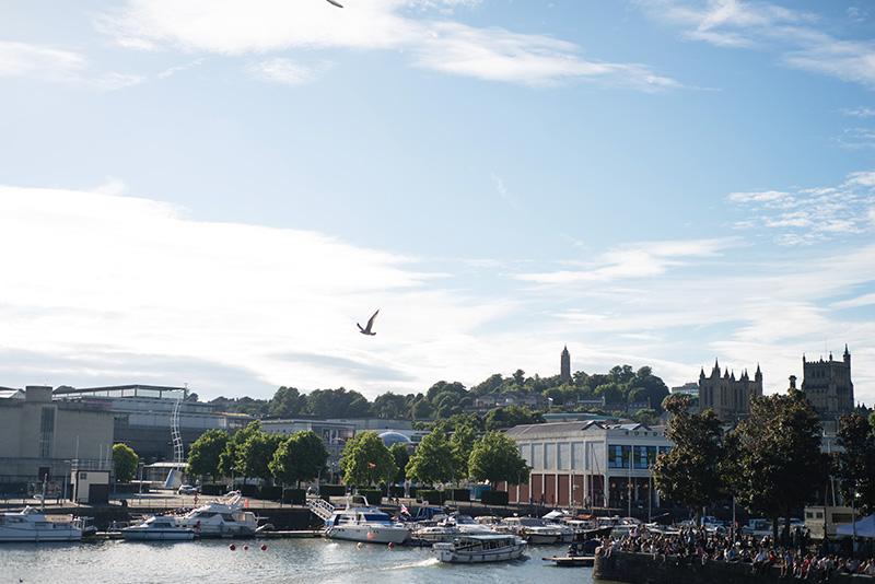 Bristol harbour landscape.
