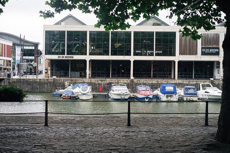 Bristol harbour landscape boats.
