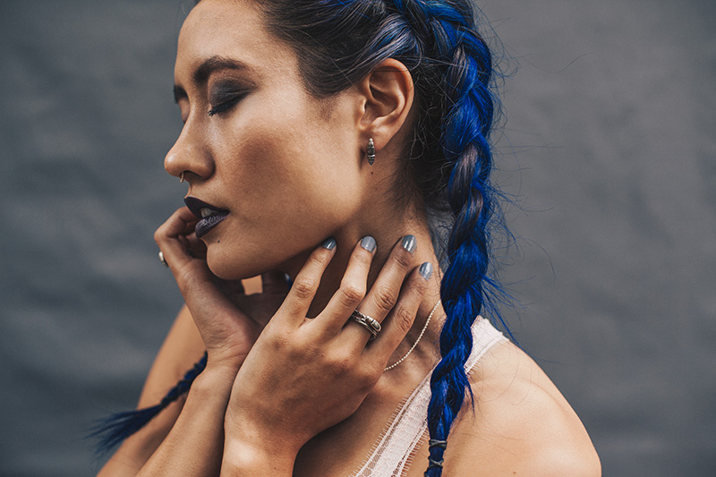 Birds N Bones Jewelry Darkling Beetle mini collection, shot by Aubrey Janelle.