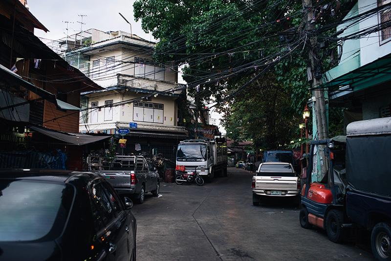 Bangkok Thailand Chinatown city streets.