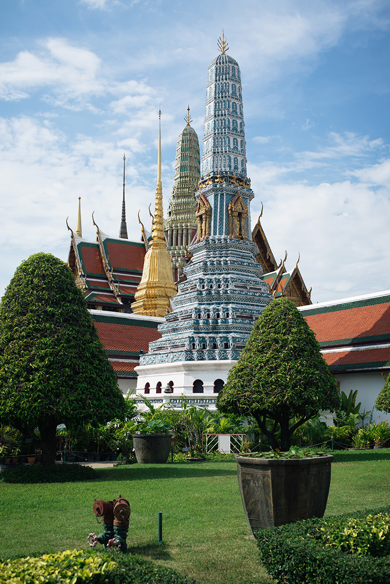 Temples of Bangkok Thailand, The Grand Palace and Wat Phra Kaew.