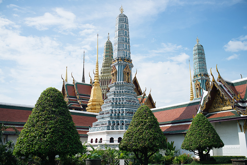 Bangkok Thailand temples, The Grand Palace and Wat Phra Kaew.