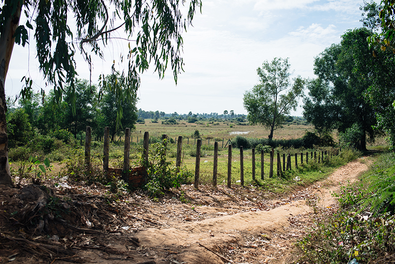 Motorbiking through the Siem Reap countryside in Cambodia.