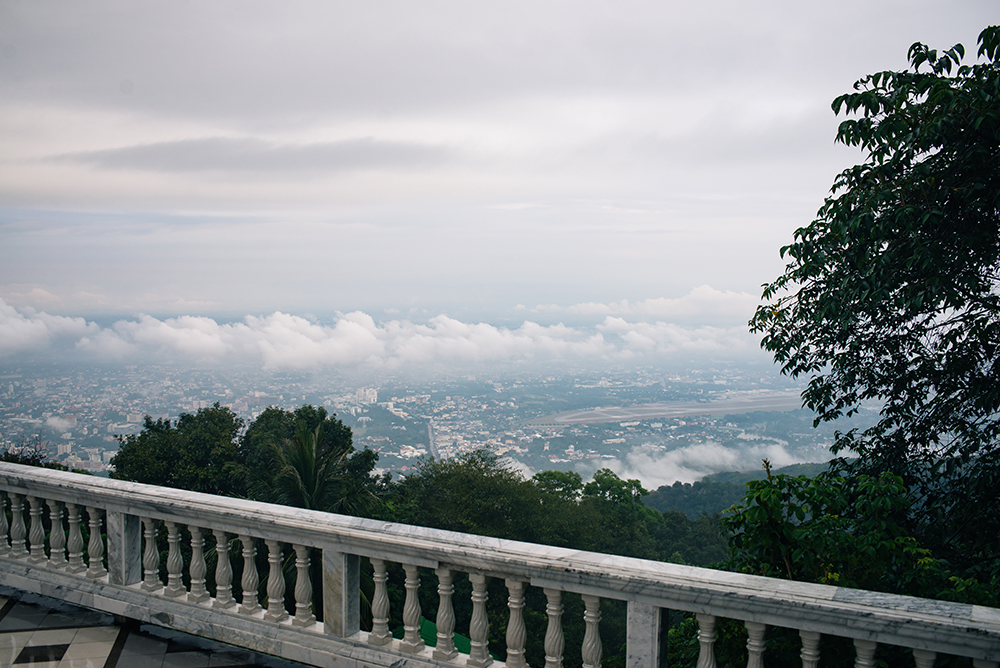 Wat Phra That Doi Suthep view over Chiang Mai Thailand.