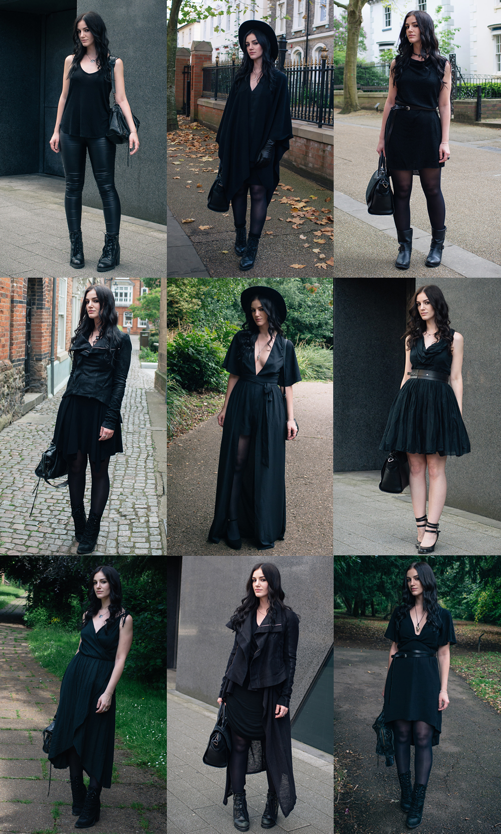 Fashion blogger Stephanie of FAIIINT best dark style all black outfits of the year.