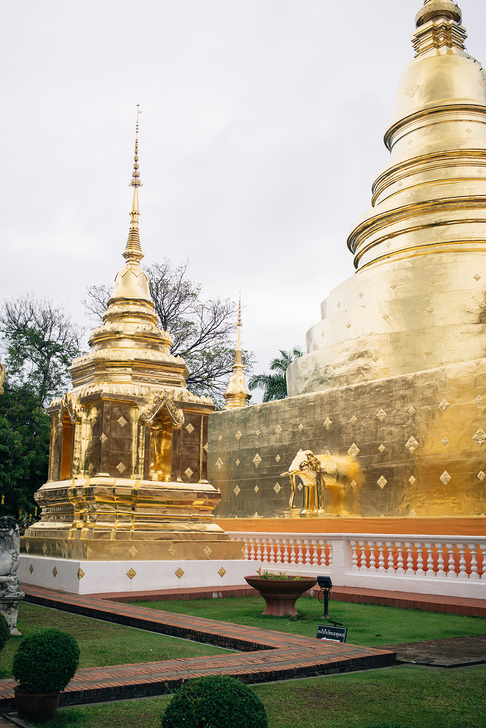 Wat Phra Singh golden temple Chiang Mai Thailand.