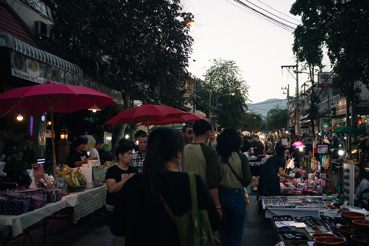 Chiang Mai Thailand sunday walking street market