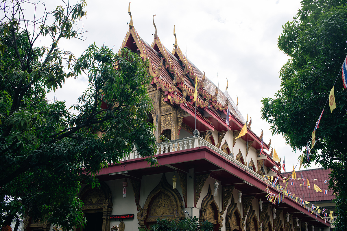 Chiang Mai Thailand streets Wat Buparam temple
