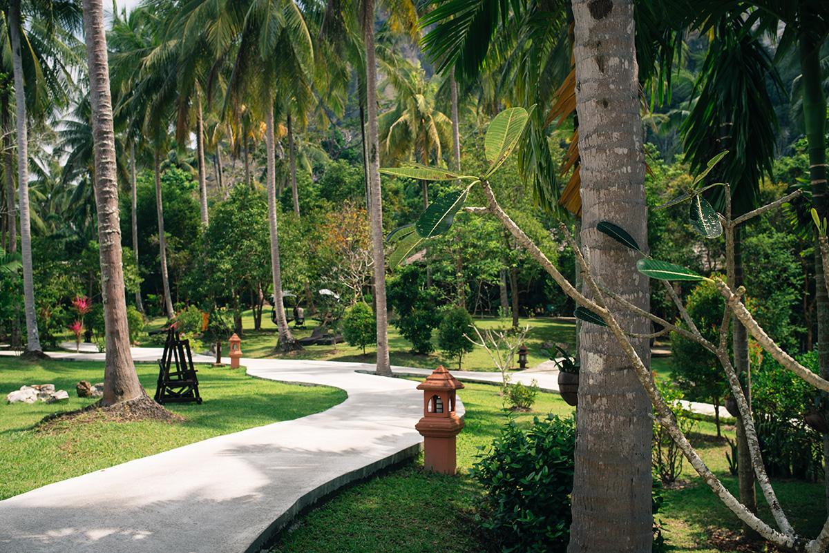 Ban Sainai Resort garden Ao Nang Krabi Thailand