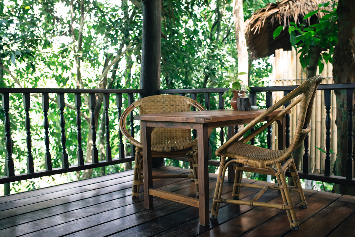 Ban Sainai Resort cottage balcony with garden view Ao Nang Krabi Thailand