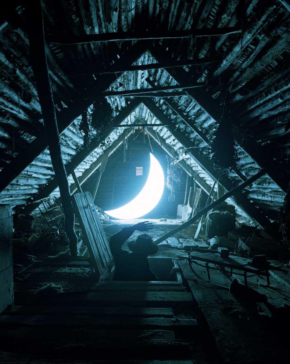 Leonid Tishkov, Boris Bendikov, Private Moon, Photography, Dreamy, Moon, Night, Surreal