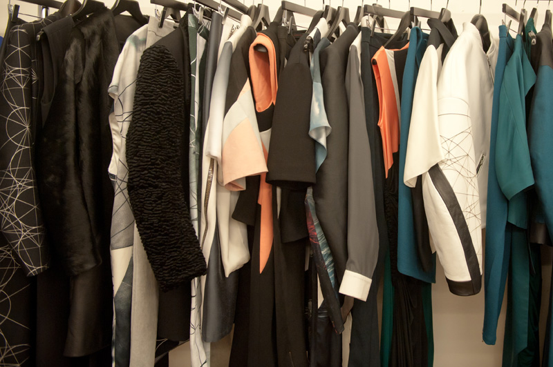 Trace Publicity Autumn Winter 2013 AW13 Press Day, Jean-Pierre Braganza collection, textures, rail