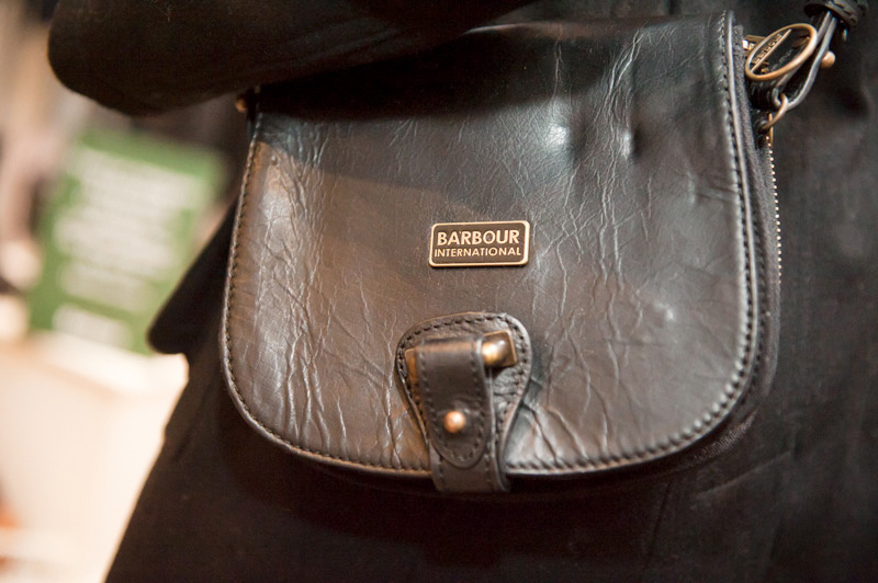 Dust PR AW13 Press Day, Barbour small black leather satchel cross body messenger bag