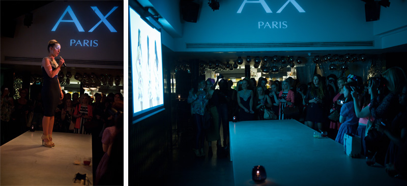 AX Paris & E-Tail Webstores Blogger Party Event at Circus Covent Garden, tv advert preview screening, ss13