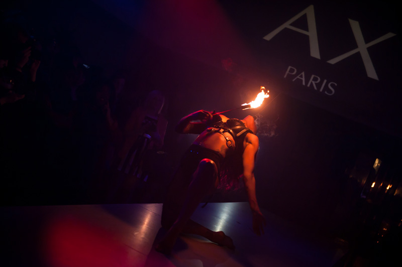 AX Paris & E-Tail Webstores Blogger Party Event at Circus Covent Garden, Performance, Fire, Dancing, Girls, Fire eating, fire breathing,
