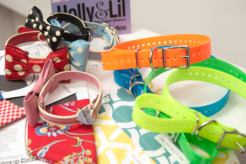 PetsPyjamas Fashion Blogger Puppy Dog Party, Holly & Lil collars, Cute, Bow, Flourescent, Neon, Scarft, Bandana