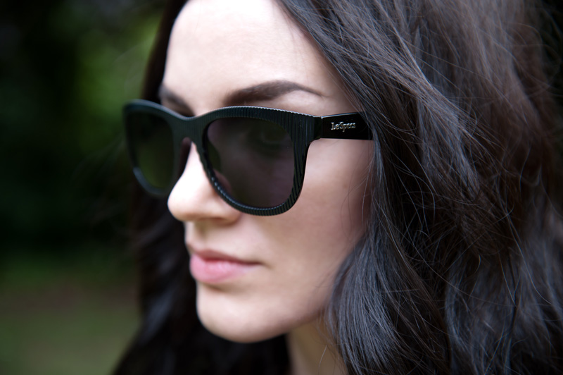 Fashion blogger Stephanie Brown FAIIINT wearing Le Specs 'Revolver' Sunglasses from Sunglasses Shop
