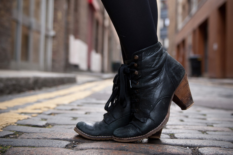 Topshop, Lace Up, Ankle Boots, Battered, Worn, Distressed