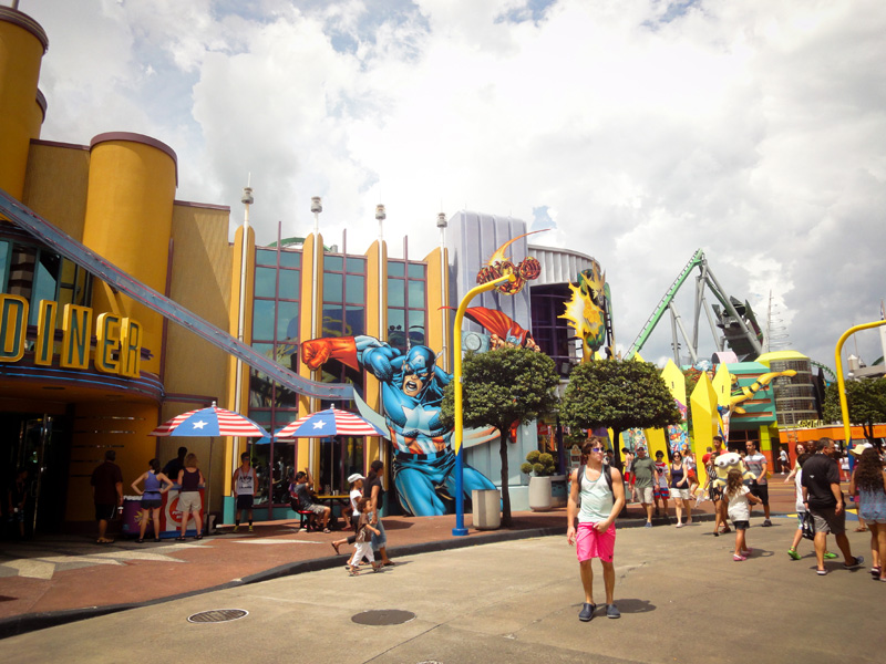 Universal Studios, Islands of Adventure, Theme Park, Superheroes, Comic Book, Captain America, Rides, Diner, Florida,