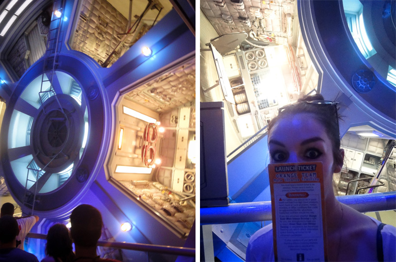 Epcot, Disney, Walt Disney, Disneyland, Florida, Disney World, Mission Space, Inside, Space Station, Gravity Wheel, Sci-Fi