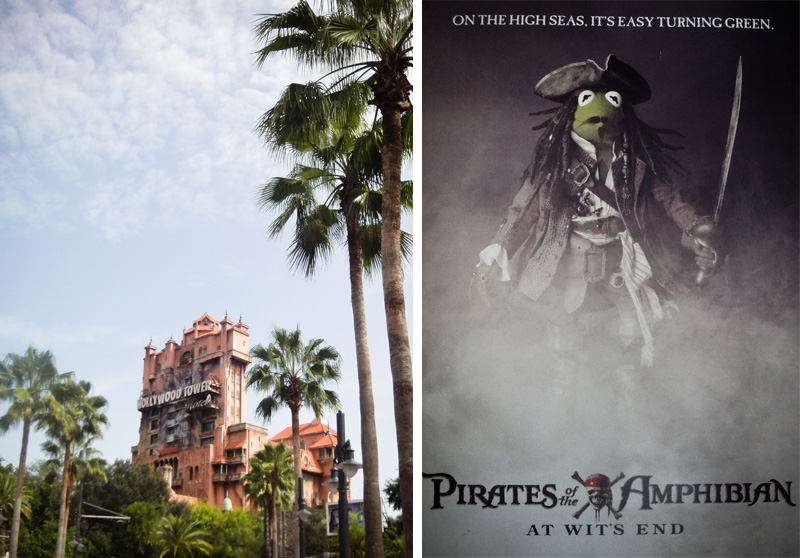 Disney, Hollywood Studios, MGM, Florida, Walt Disney, Disneyland, Walt Disney World, Tower of Terror, Muppets, Kermit, Pirates of the Carribean, Jack Sparrow, Fancy Dress