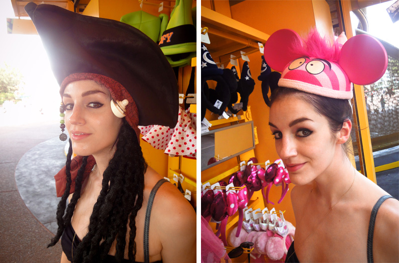 Hollywood Studios, MGM, Disney, Disneyland, Walt, Disney World, Hats, Jack Sparrow, Cheshire Cat, Dressing Up