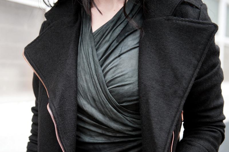 FAIIINT, Outfit, Minkpink, Wool, Biker, Jacket, Gestuz, Draped, Wrapped, Tie Dye, Dress, Casual, Street Style