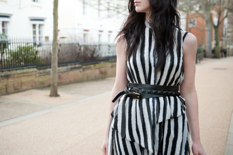 FAIIINT, Outfit, Boohoo, #Globalstyler, Globalstyler, Stripes, Vertical, Leather, Draped, Asymmetric, Topshop, Boots, ASOS, Double Belt, Black & White, Barneys Originals, Street Style