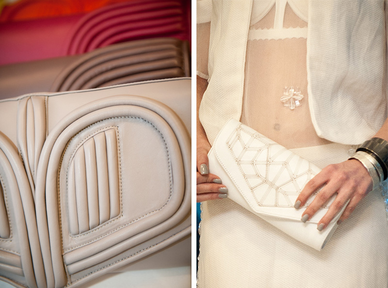 Bracher Emden, Bags, Clutch, White, Grey, Snake, Skin, Handmade, Luxury, Designer, Sci Fi, Unique, Hemyca, Collection, Sheer, Catwalk, Event, London, RBS, Geometric, Print, Bora Aksu, Collaboration, Heart, Red, Taupe
