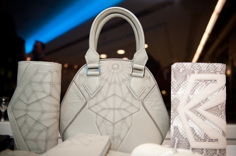 Bracher Emden, Bags, Clutch, White, Grey, Snake, Skin, Handmade, Luxury, Designer, Sci Fi, Unique, Hemyca, Event, London, RBS, Geometric, Print,