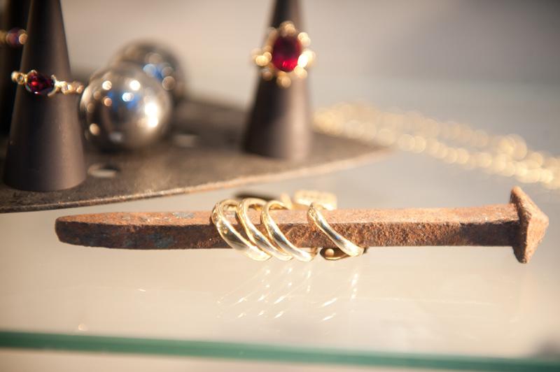 Susan Peires, Jewellery, Jewelry, Nail, Rings, Ruby, Organic, Gold, Handmade