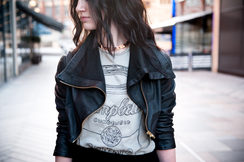 FAIIINT, outfit, Handmade, leather, Jacket, Draped, Cropped, Andy Warhol, Pepe Jeans, Tee, Mens, Soup Can, Campbells, River Island, Asymmetric, Skirt, Finsk, Skin by Finsk, D2, Wedges, Laced, Black, Grey, Print, Tee, T-Shirt, Balenciaga, City, Fashion, Blogger, Street Style