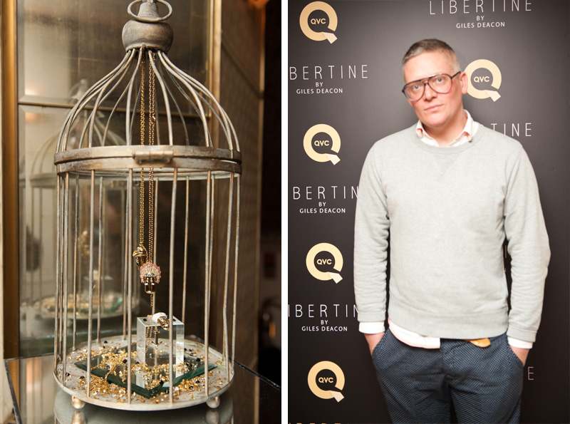 Giles Deacon, QVC, Libertine, Event, Launch, Party, Jewelry, Jewellery, Gold, Collaboration